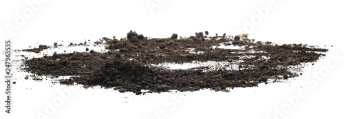 Soil, dirt pile isolated on white background Canvas