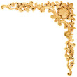 Gilded stucco, collection gold cartouche