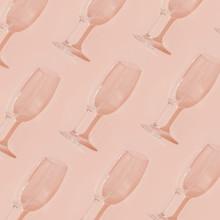 Minimal Style. Champagne Glass...