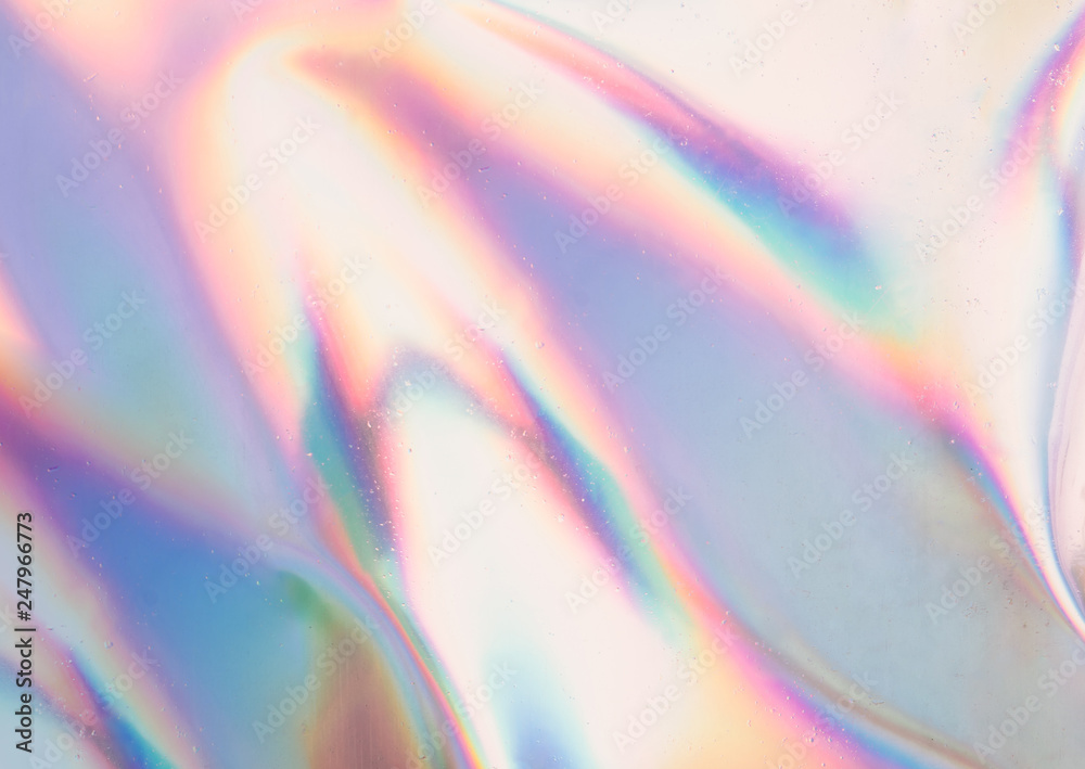 Fototapety, obrazy: Iridescent background. Holographic Abstract soft pastel colors backdrop. Holographic Foil Backdrop. Trendy creative gradient.
