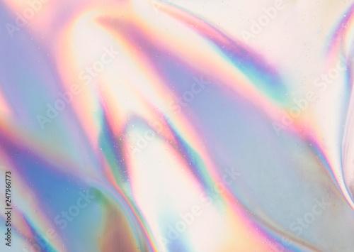 Fototapeta Iridescent background. Holographic Abstract soft pastel colors backdrop. Holographic Foil Backdrop. Trendy creative gradient. obraz