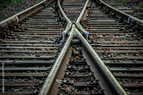Aluminium Prints Railroad Railway, transport, rails