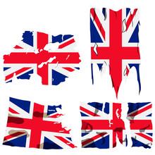 Set Of Four Flags, Illustratio...