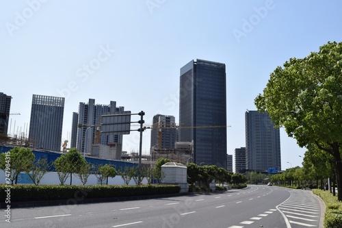 Fotografia  Cityscape near Shanghai Oriental Sports Center, China