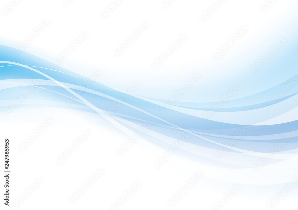 アブストラクト 光 波 なめらか 青