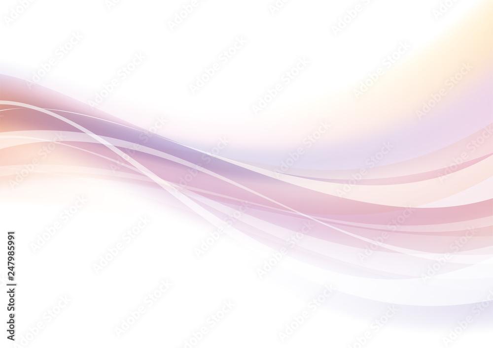 Fototapeta アブストラクト 光 波 なめらか ピンク
