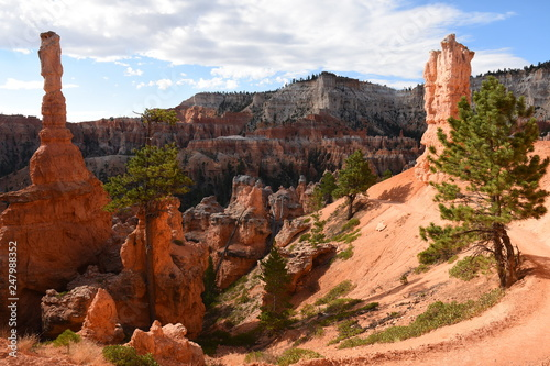 Foto op Plexiglas Rood paars landscape on the bryce canyon in the united states of america
