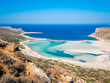 Crete, Greece: Balos lagoon paradisiacal view of beach and sea