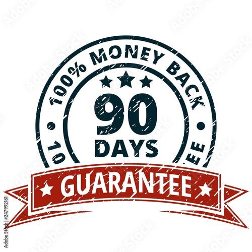 Fotografía  90 Days Money Guarantee Back illustration