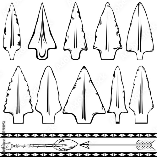 Set of Arrowheads Wallpaper Mural