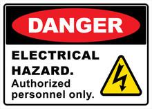 Danger Electric Hazard Sign