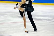 Figure Skating Pair Skaters In...