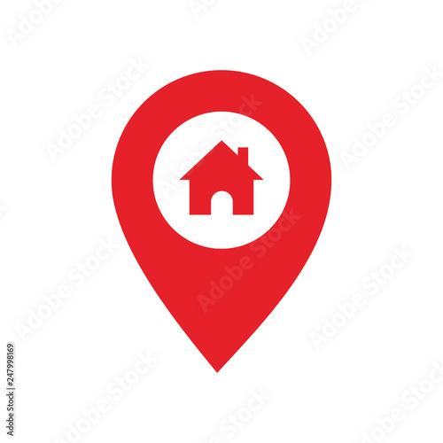 Fotografía  Pin map Home icon vector