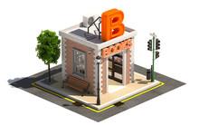 Book Store 3d Render