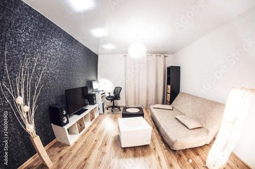 Cuadros en Lienzo Small living room in minimalist style