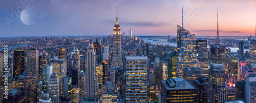 New York City Manhattan wide panorama, USA - 248008556