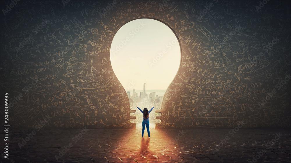 Fototapety, obrazy: lightbulb gate to freedom