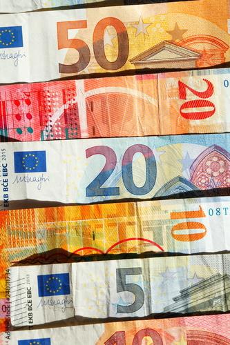 Fotografie, Obraz  Europäische Währungen,  Banknoten