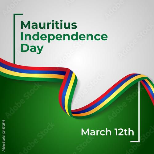 Fotografia  Republic of Mauritius Independence Day Vector Template Design Illustration