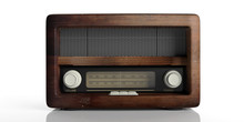 Radio Old Fashioned Isolated On White Background. 3d Illustration