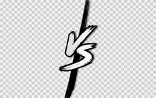 VS. Versus Letter Logo. Battle...