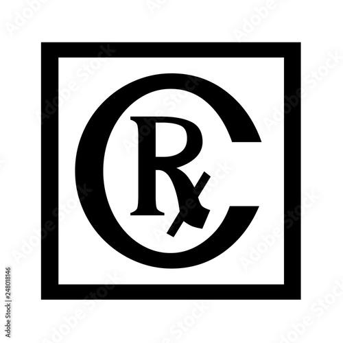 Photo  Rx symbol icon