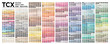 Color  table Pantone of the Fashion, Home and Interiors colors.  Vector color palette with number, named color swatches, chart conform to pantone RGB, HTML and HEX description.