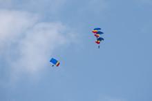 Bucharest Air Show BIAS , Parachuter Jumping From The Plain