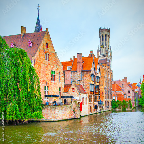 Wall Murals Bridges Quay of the Rosary in Bruges