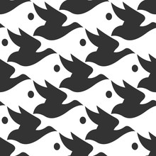 Vector Pattern Black And White...
