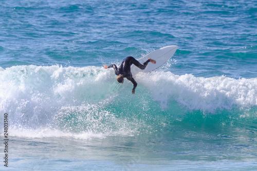 Manobra de surfista na praia do guincho Cascais Portugal Slika na platnu