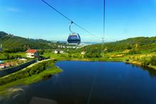 View Of The Dajti Express Cable Car And Lake In Tirana, Albania.