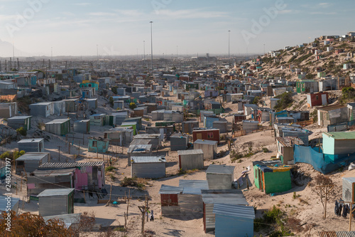 Valokuvatapetti Township houses in Cape Town, South Africa