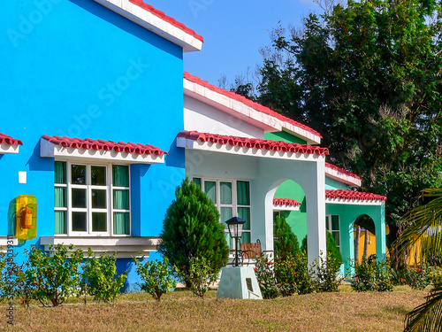 Colourful vacation homes on the island of Cuba Wallpaper Mural