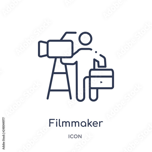 Fotografie, Obraz  filmmaker icon from people skills outline collection