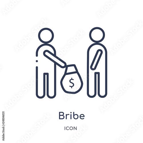 Fotografía  bribe icon from political outline collection