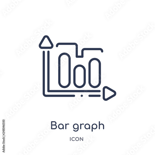 Fotografía  bar graph icon from productivity outline collection