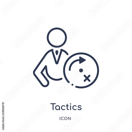 Fotografía  tactics icon from productivity outline collection