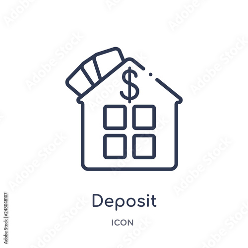 Fotografía  deposit icon from real estate outline collection