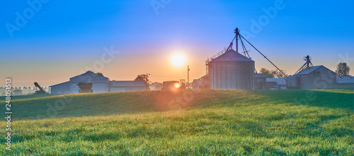 Sunrise Over Farm, KY Wallpaper Mural