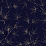 Bambusowy wzór bez szwu, świetny projekt dla każdego projektu. Bezszwowy kwiecisty wzór. Tekstury w stylu japońskim dla Twojej ilustracji botanicznych. Illutration wektorowe. - 248057580