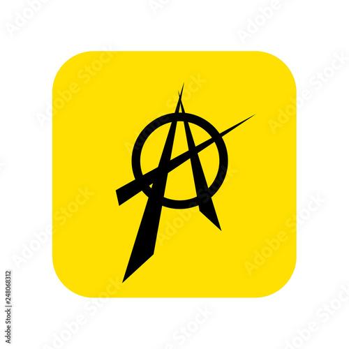 Fotografie, Obraz  Anarchy sign icon vector