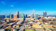 canvas print picture Downtown Raleigh, North Carolina, USA Drone Skyline Aerial