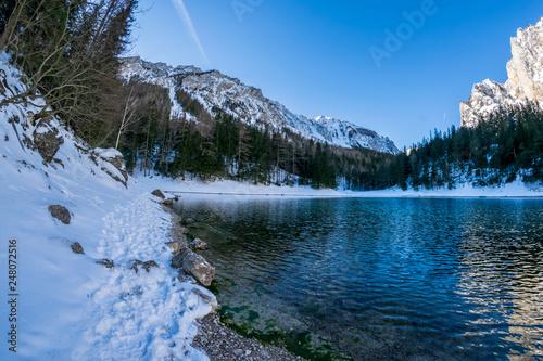 Fotografie, Obraz  Ansichten Grüner See bei Tragöß in der Steiermark