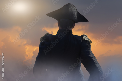 Napoleon Bonaparte, military leader and statesman of the 18th century render 3d