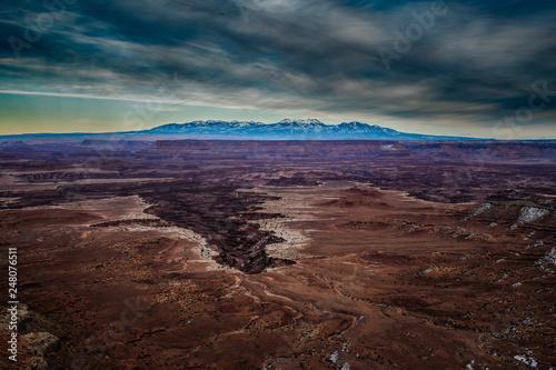 Poster Marron chocolat Canyonlands National Park, Utah