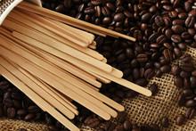 Wooden Stir Sticks And Coffee ...