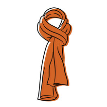 Isolated Winter Scarf