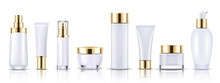 Set Gold Cosmetic Bottles Pack...