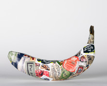 Banana Covered In Postal Stamps
